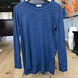 LNA Navy Long-Sleeve Burnout T-shirt - size M